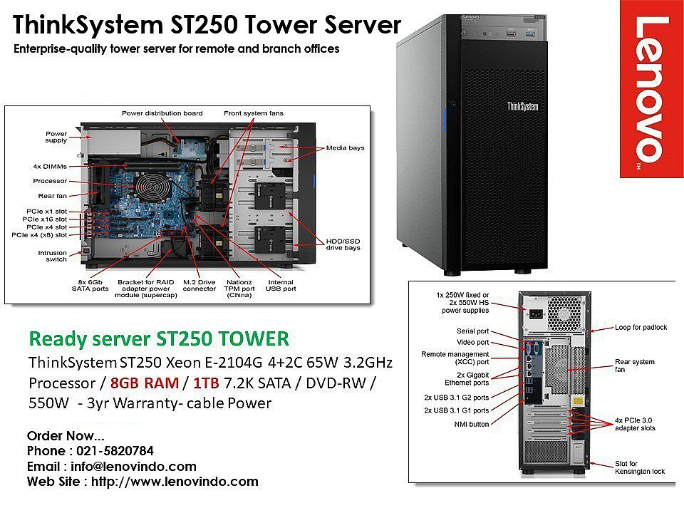 Lenovo System ST250 Tower Server